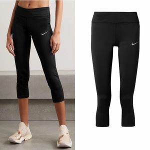 NIKE Racer cropped mesh-trimmed Dri-FIT leggings